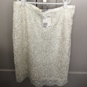 NWT White Lace H&M Skirt